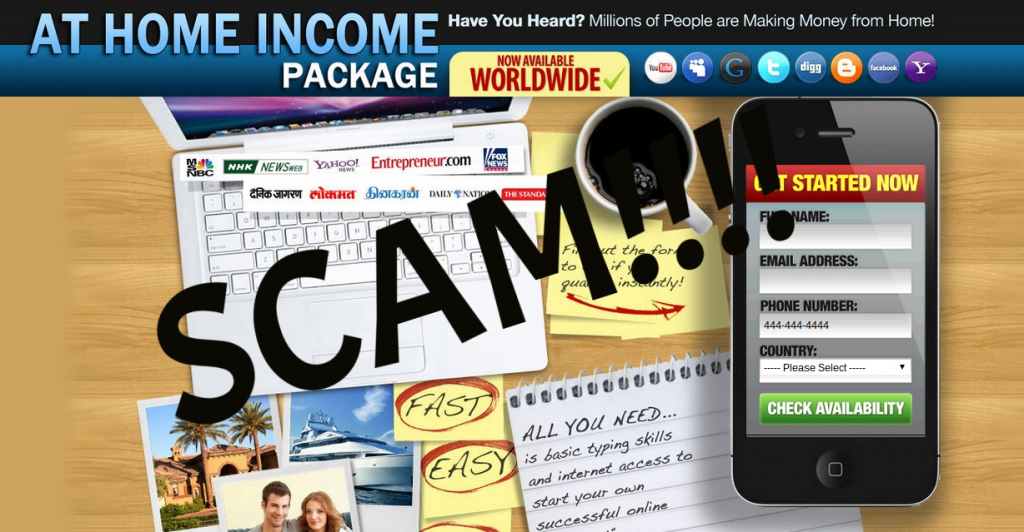 At Home Income Package Scam