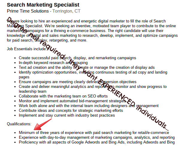 Search Marketing Specialist job