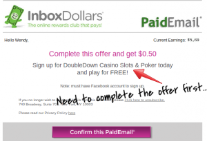 inbox dollars paid email