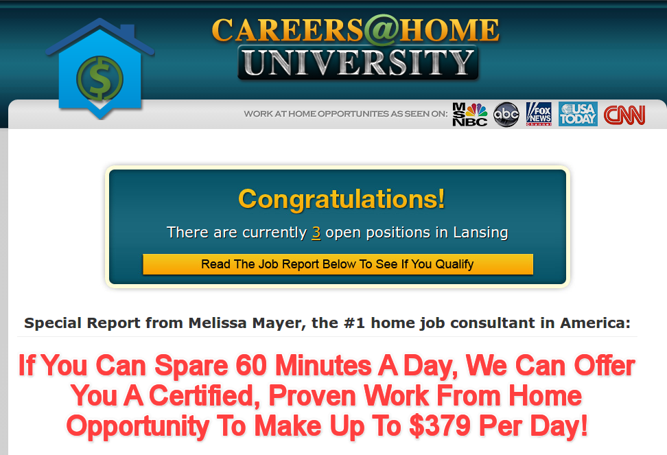 careers at home university