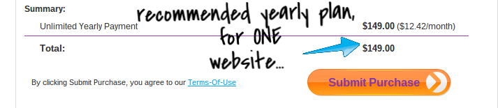 wix.com yearly pricing
