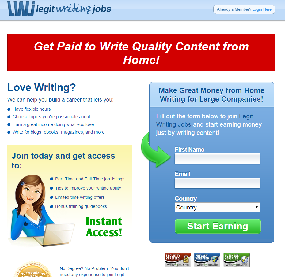 legit writing jobs review surviving after college