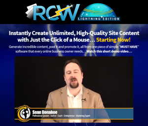 rapid content wizard sales page