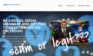 paid social media jobs scam