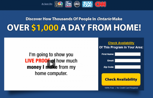 work at home paycheck scam