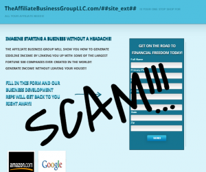 Affiliate Business Group LLC – One of Several Amazon Scams