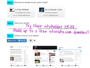free wordpress website with siterubix