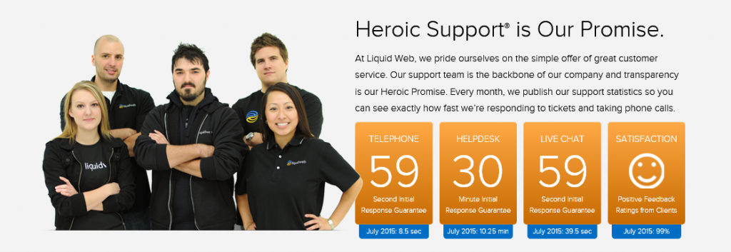 liquid web heroic support