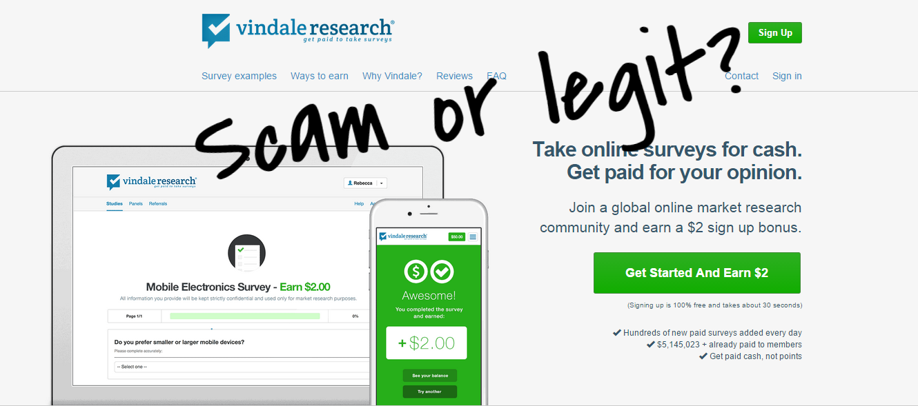 vindale research scam or legit