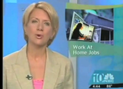 work at home job news segment fake