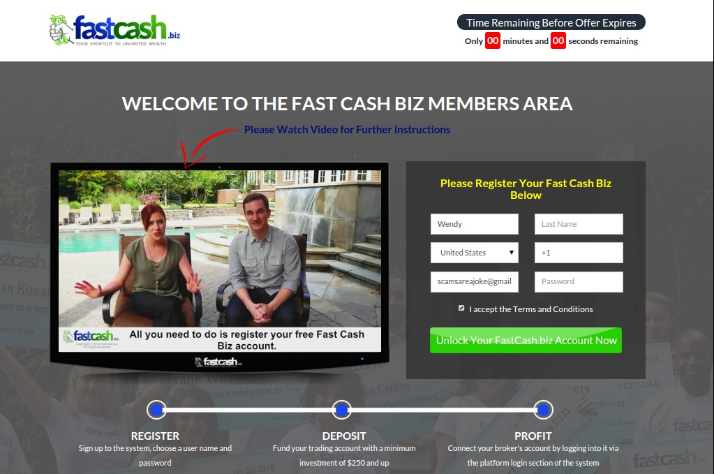 fast cash biz members area