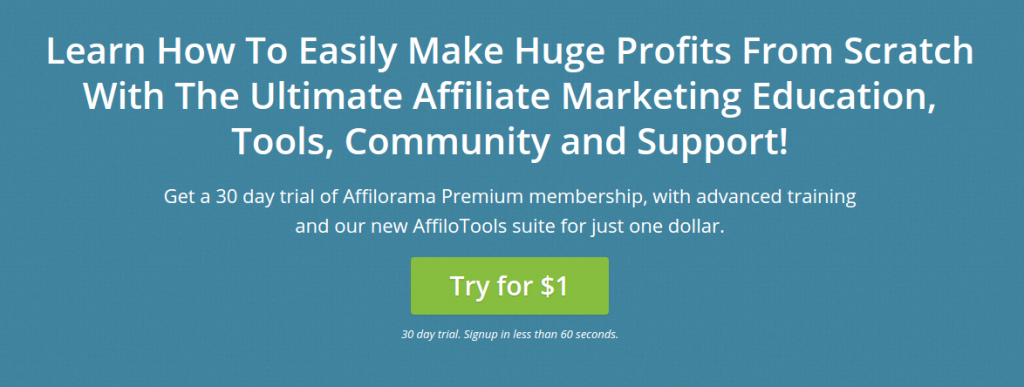 affilorama premium membership sign up