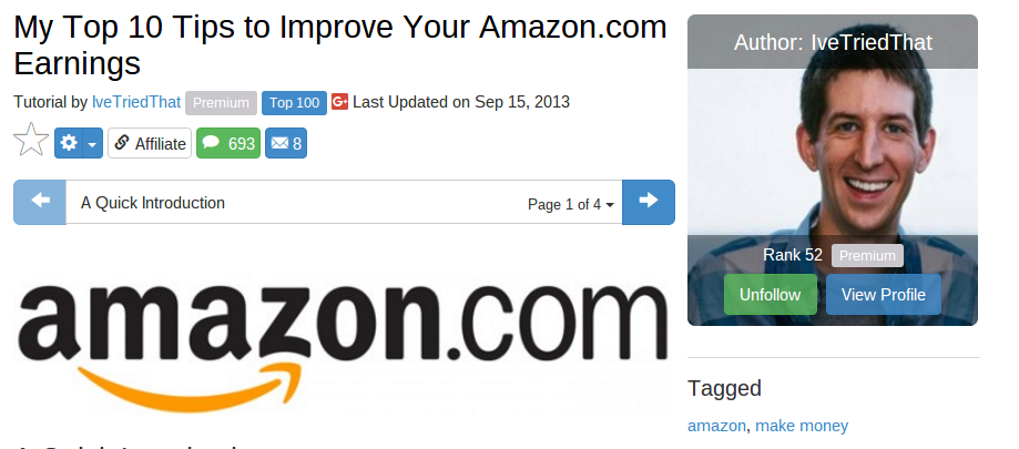 amazon affiliate tips by Steve