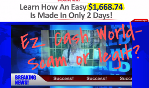 ez cash world scam or legit