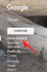 flooded gmail box