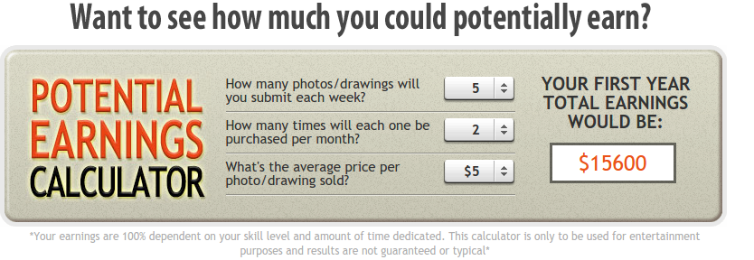 get paid to draw earning calculator