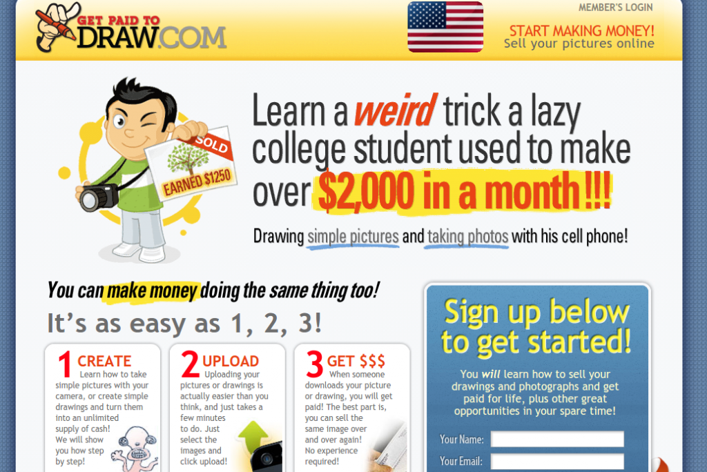 get paid to draw review