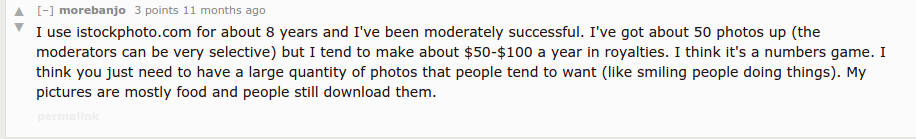 how much money from stock photography 2