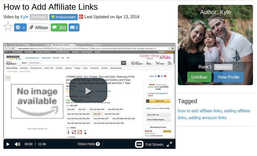 how to add affiliate links from amazon