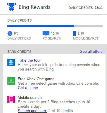 Bing Rewards launched in as a way to incentivize the use of the Bing search engine. Sure, it seems a bit like Bing is bribing people to use their search engine, but loyalty programs are pretty common in .