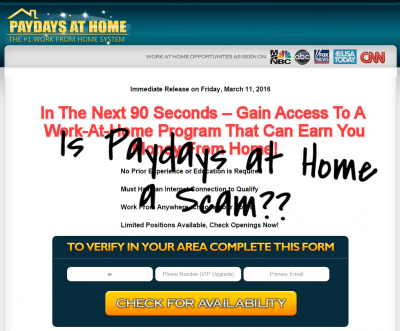 paydays at home scam