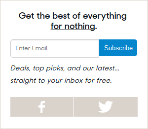 email marketing subscribe box