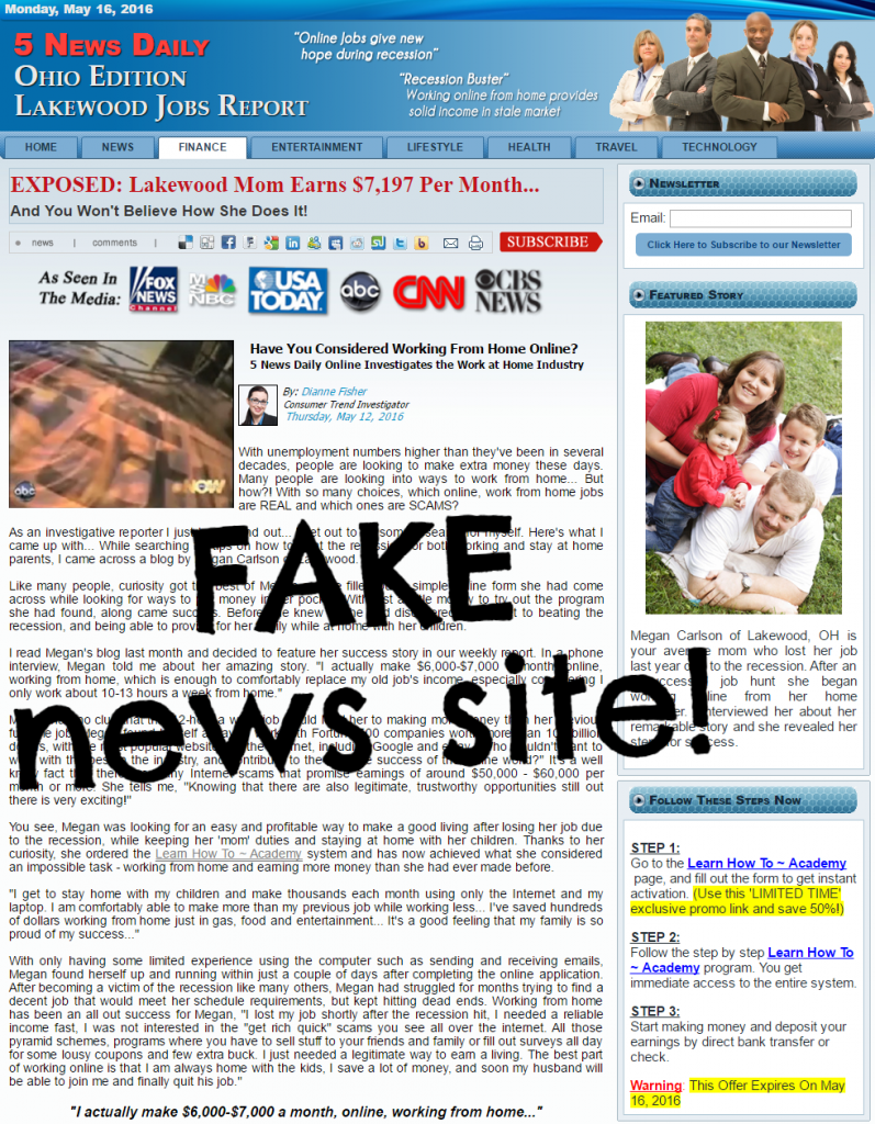 5 news daily fake