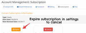 cancel flexjobs subscription