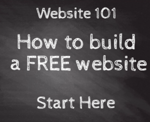 how to build a free webstie