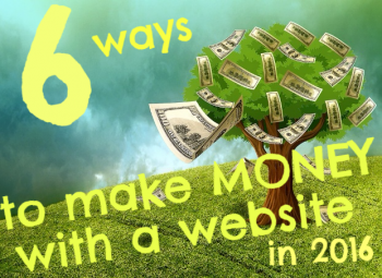 make money with a website