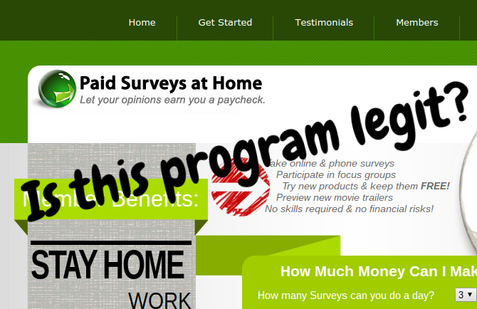 paid surveys at home legit or scam