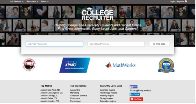 college recruiter home page
