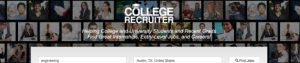 college recruiter search