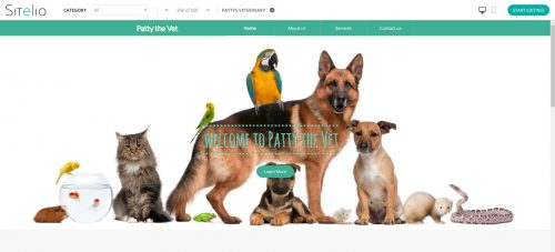 sitelio website template vet
