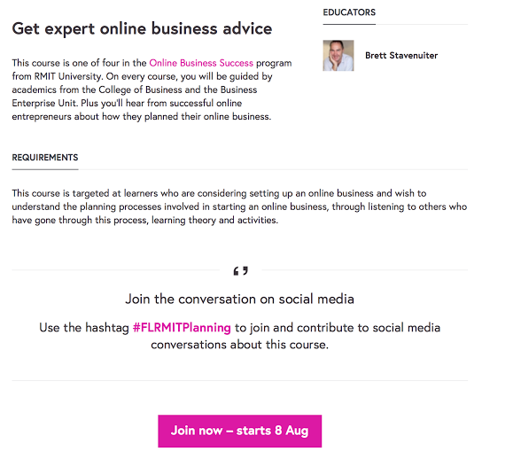futurelearn course example 2